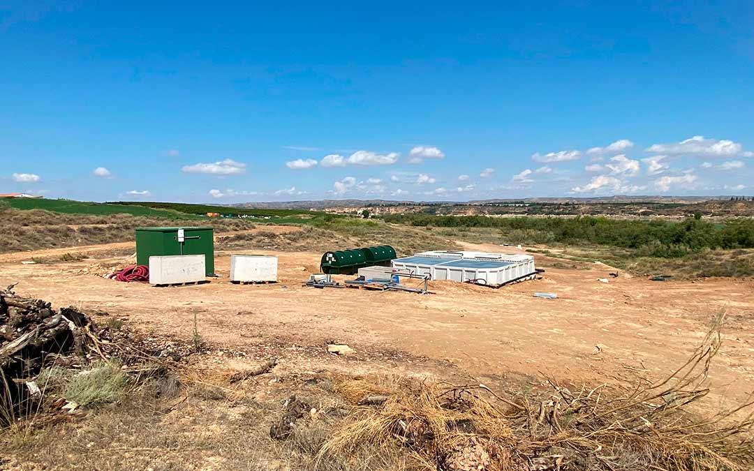 Obras en la nueva depuradora de aguas residuales en Chiprana / Ayto de Chiprana