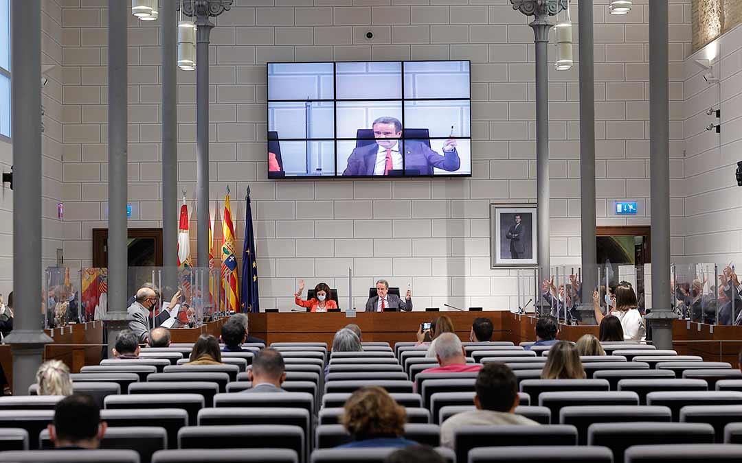 Imagen del pleno de la DPZ en este jueves / DPZ