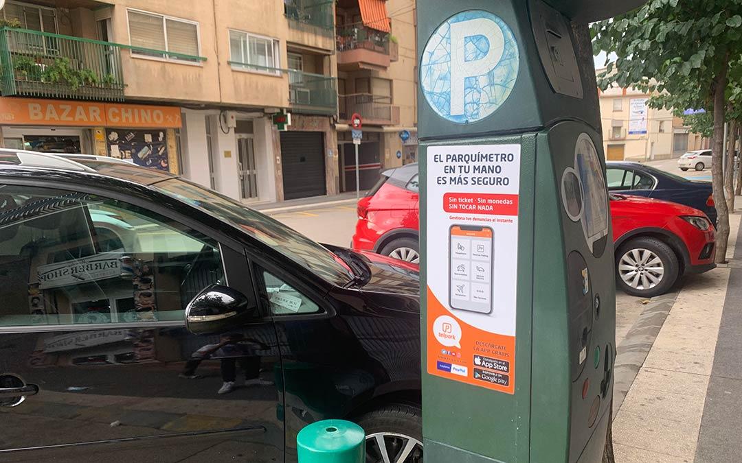 Caspe cuenta con una nueva forma de pagar el estacionamiento en zona azul. / Eduard Peralta
