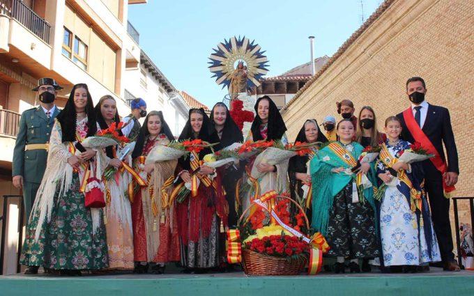 Calanda se vuelca con una ofrenda a la Virgen del Pilar llena de emoción