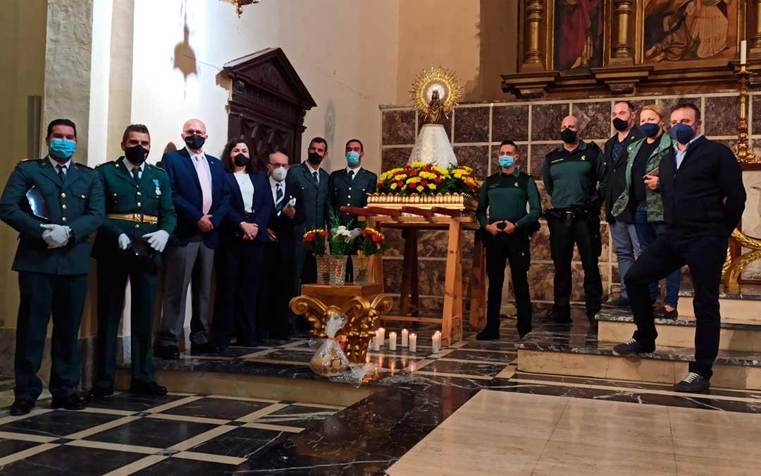 En Albalate del Arzobispo la Guardia Civil ha participado en la conmemoración de su patrona. E.A.