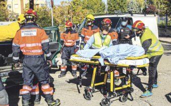 Despliegue de efectivos en Andorra en el simulacro de un accidente múltiple