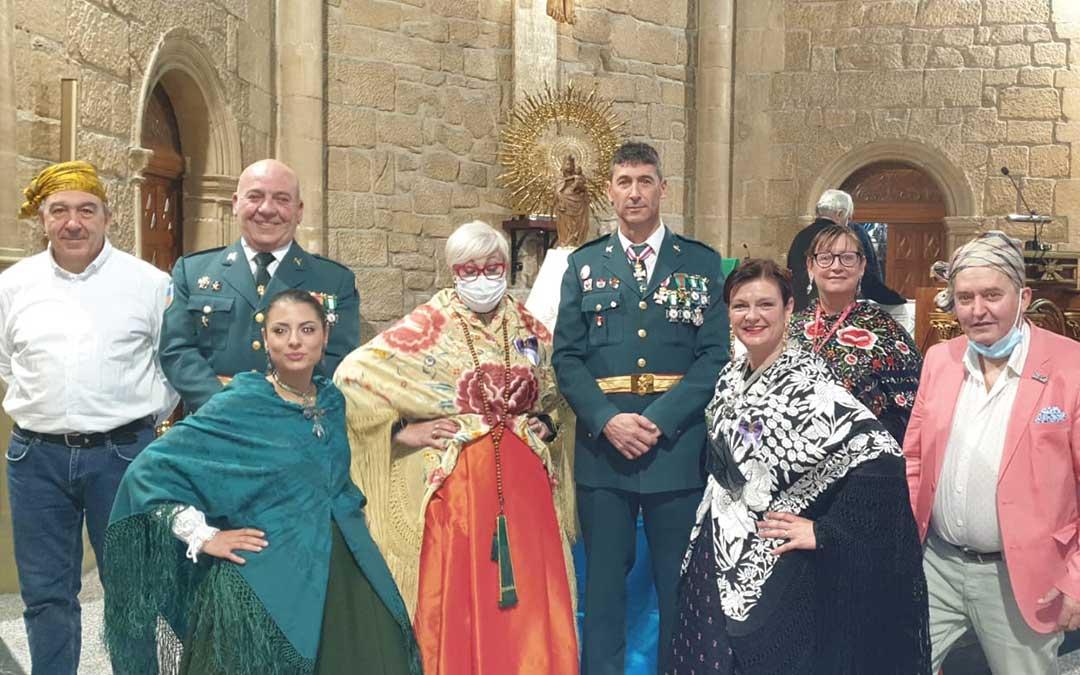 La Guardia Civil participa en Andorra en la misa en honor a la Virgen del Pilar./ Ayto. de Andorra