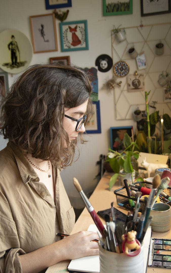 Boix, en su taller en Beceite. / Archivo personal