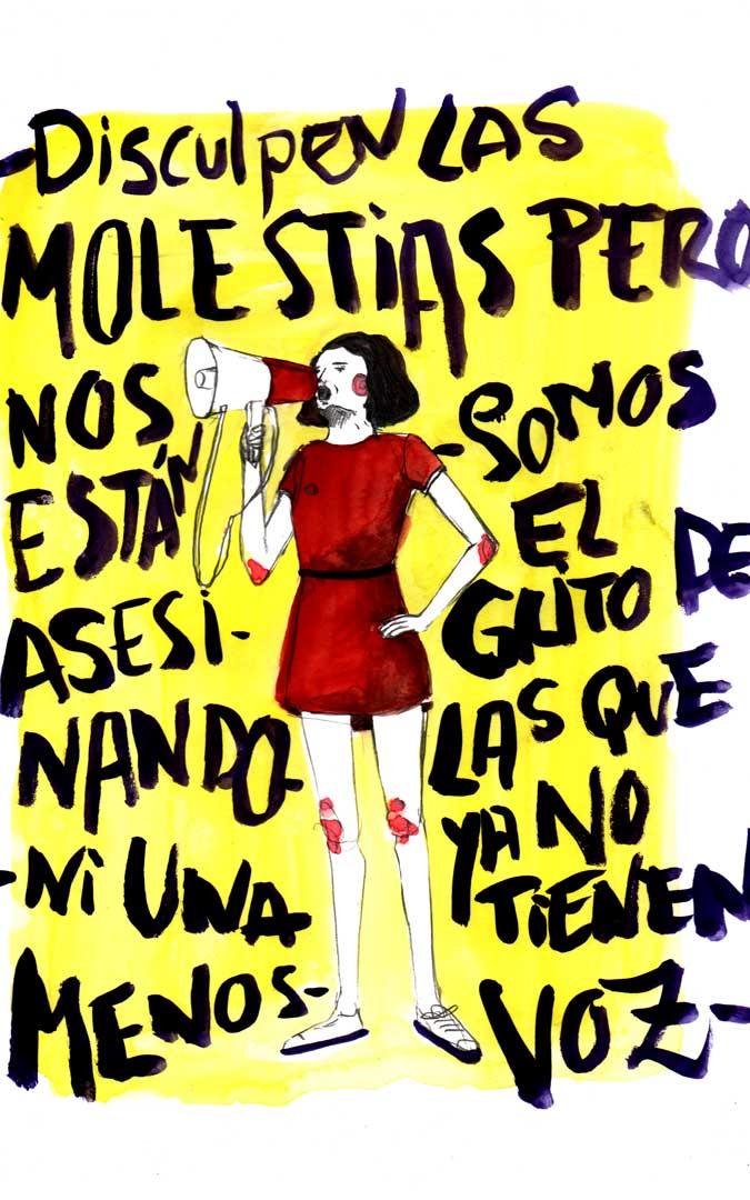 Ilustración 'Grita' ante la violencia de género. / Archivo personal