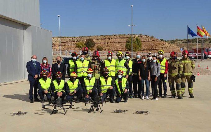 El grupo especializado en drones de los bomberos de la DPT alcanza los 18 efectivos