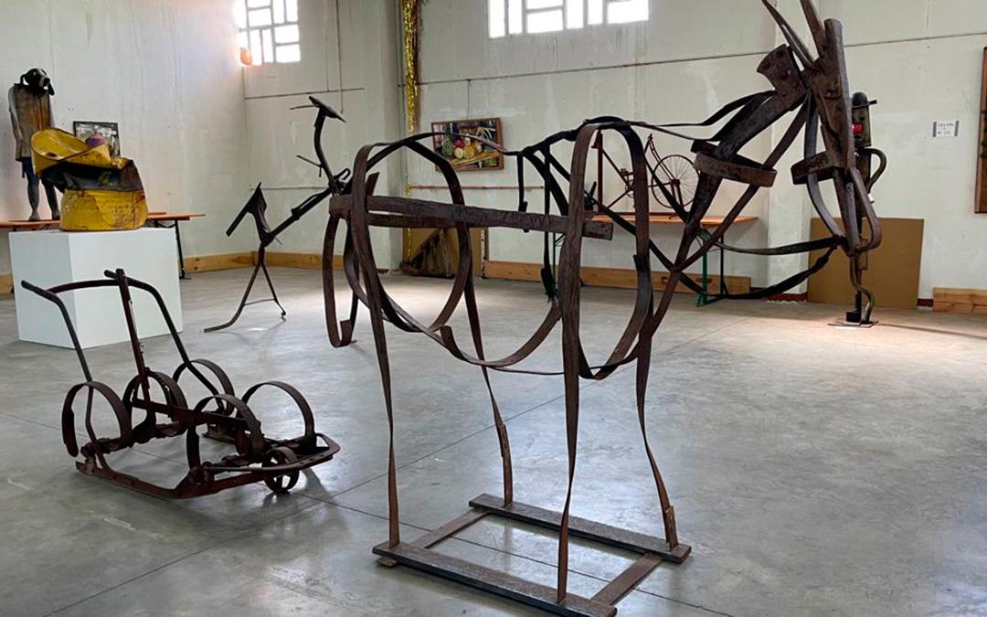 Un burro de hierro./ María Celiméndiz