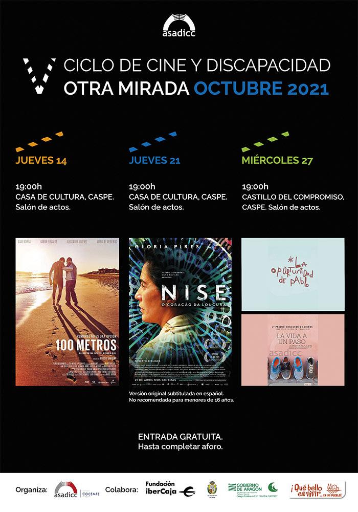 V Ciclo de Cine y Discapacidad 'Otra Mirada' Octubre 2021 en Caspe