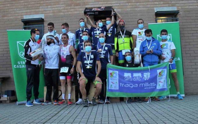 Bronce para el Tragamillas en el Campeonato de Aragón de Duatlón Cros por equipos