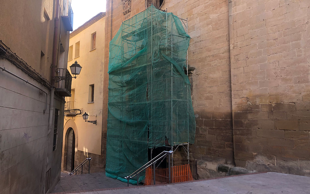 Las obras de la Iglesia del Carmen han comenzado esta semana / L. Castel