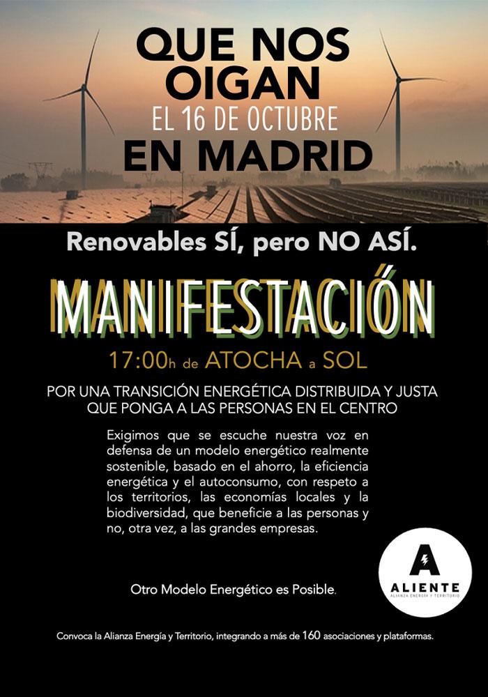 Manifestación 'Que nos oigan' en Madrid