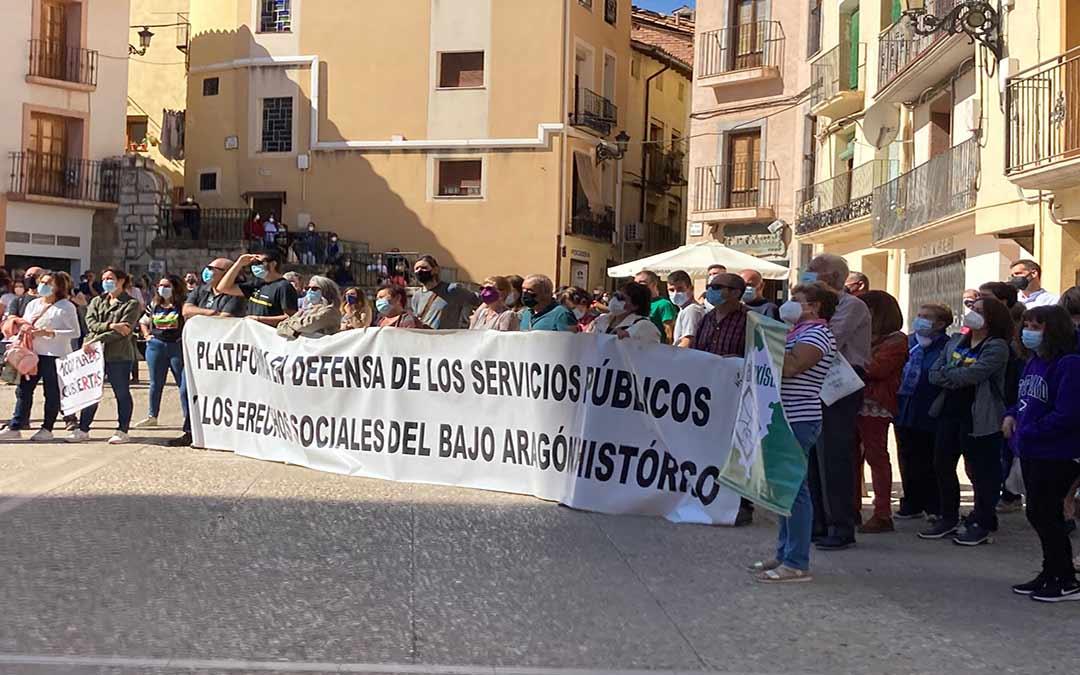 Movilización este sábado en Montalbán./MAR