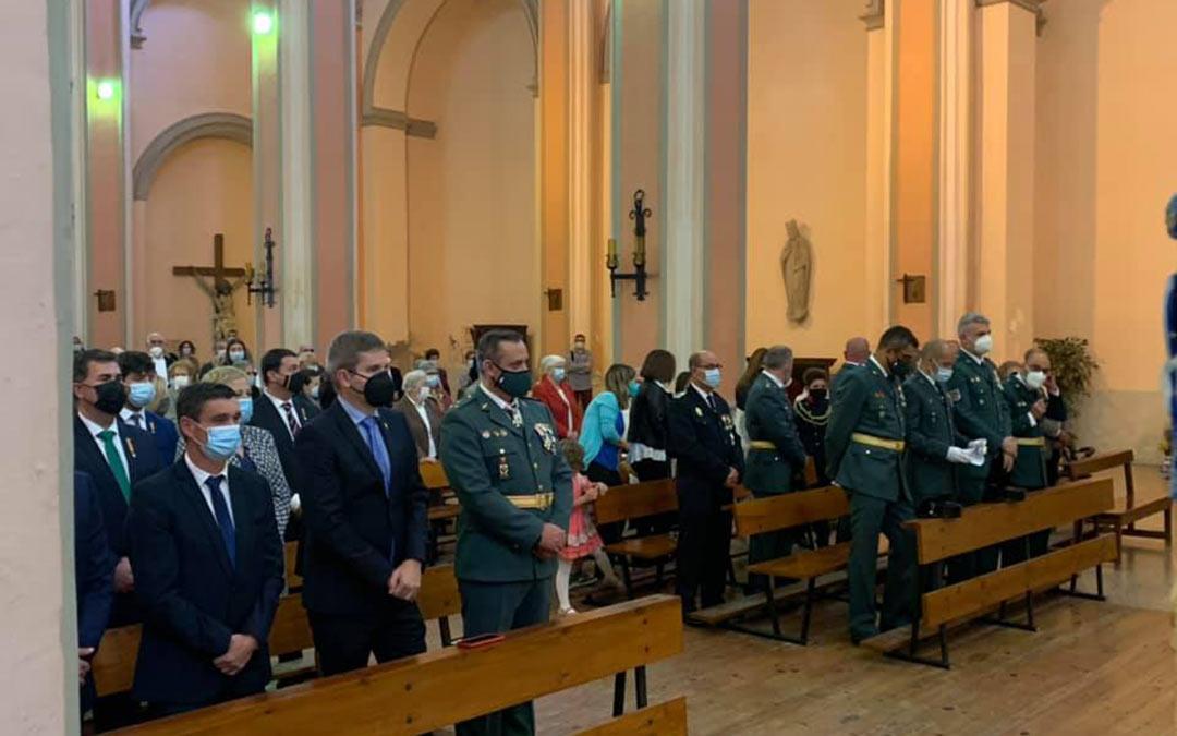 Misa de la Guardia Civil en la Iglesia de San Francisco de Alcañiz./Ayuntamiento de Alcañiz