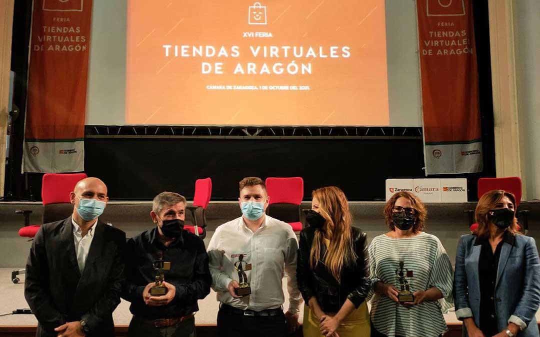 Motocross Center, Tolosana y Foticos han sido las tres empresas premiadas. / Gobierno de Aragón