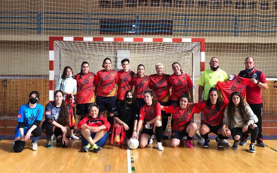 Jugadoras del equipo femenino senior de fútbol sala del Polideportivo Andorra./ Polideportivo Andorra