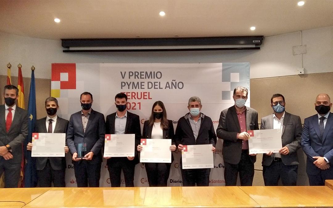 Galardonados en los premios Pyme Teruel 2021./ Cámara de Comercio de Teruel