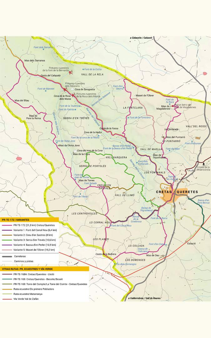 Mapa PR-TE-172./ Senderos de Aragón