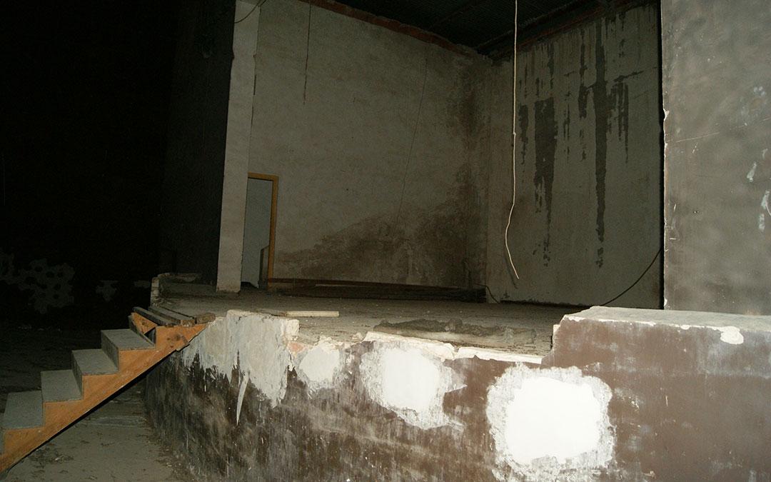 Imagen de 2014 del escenario tras años con el edificio cerrado y abandonado. / B. Severino