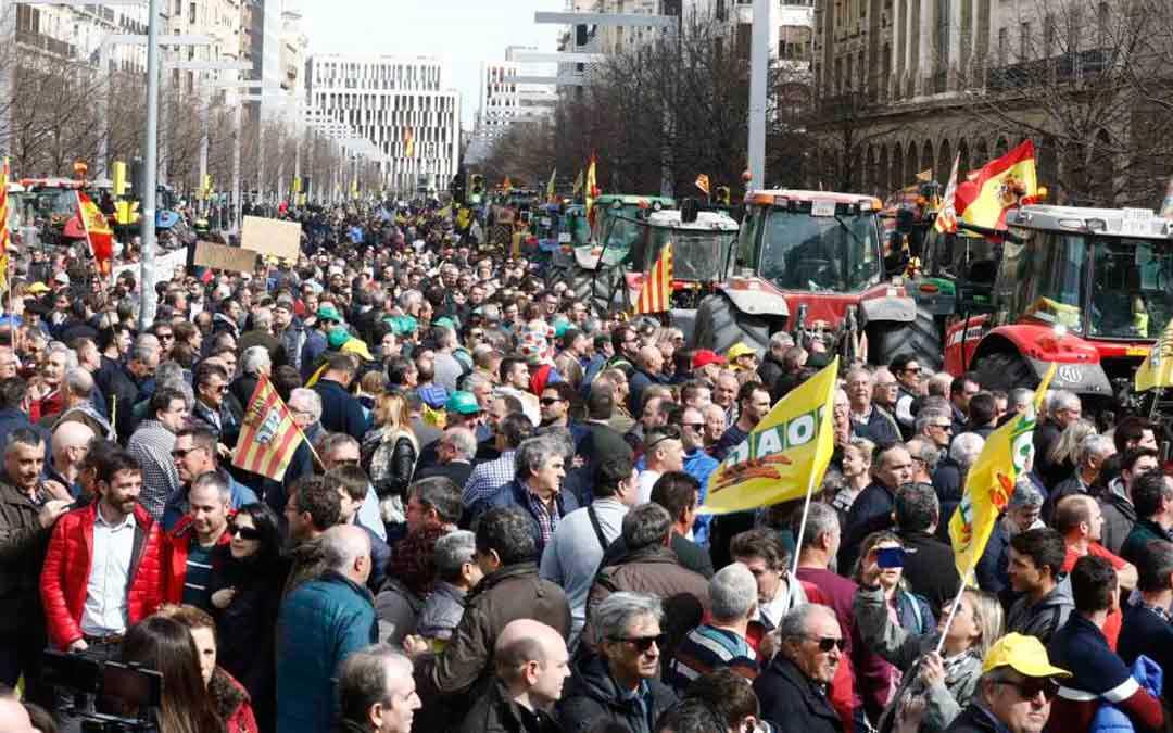 Manifestación celebrada en marzo de 2020 en Zaragoza. / HERALDO
